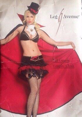 Leg Avenue Full Length Vampire Cloak / Cape - Fancy Dress Halloween (Halloween Costumes 1800)