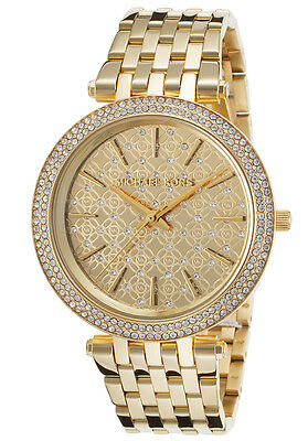 Michael Kors Women's MK3398 Darci Gold Crystal-Set Dial Gold Tone Watch