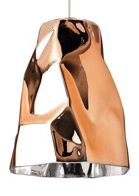 LBL Mini-Zuri Low Voltage Pendant HS859CPSC1BFSJ Copper Glass & Bronze Trim Glass Low Voltage Trim