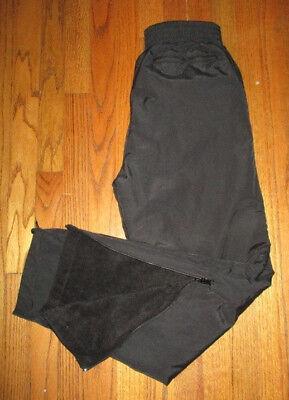 POLAR EDGE Black Fleece Lined Reversible Nylon Pants Mens Sz S NWOT