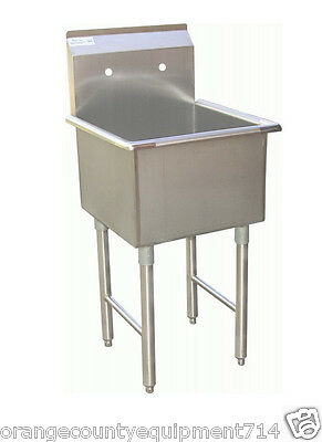 New 18x18 Sink 1 Compartment Mop Stainless Steel Nsf 7002 Commercial Restaurant