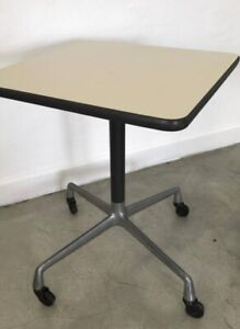 Authentic Eames Herman Miller Rolling Side Tables