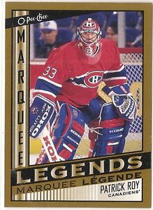 2013-14 O-Pee-Chee Hockey Marquee Legends #4 Patrick Roy ($20 Be