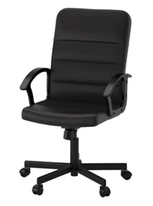 Black swivel chair for home office. Basically new!