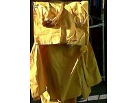 4SALE,2 WORKMENS,OUTDOORS,PVC YELLOW SUITS WITH HOODS,£5 FOR BOTH SUITS