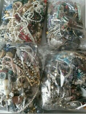 Joblot Mixed Costume Jewellery 2kg Kilo Bundle All Different Craft Beading