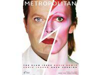 Rare David Bowie / Eddie Lizzard Metropolitan magazine Bowie march 2013 magazine