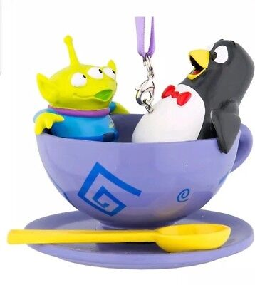 Tea Story Collection - Disney Pixar Toy Story Wheezy Alien Green Men Tea Cup Spinning Ornament