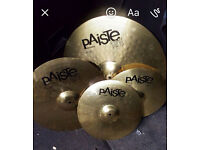 PAISTE 101 CYMBAL SET BRAND NEW NEVER PLAYED ON !!!