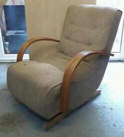Vintage Art Deco Rocking Chair