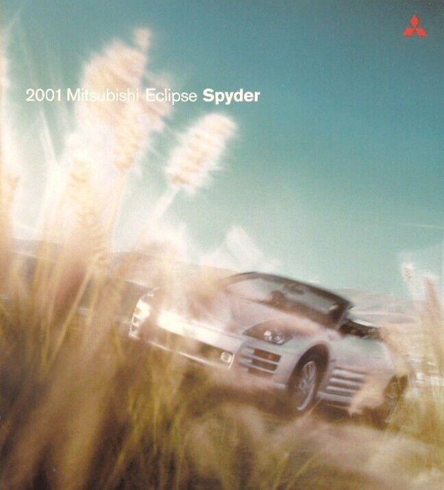 2001 Mitsubishi Eclipse Spyder GS & GT Sales Brochure - Mint!