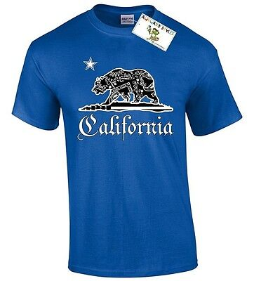 California Bear T-SHIRT California Republic Bear Flag State Cali Love Cali life
