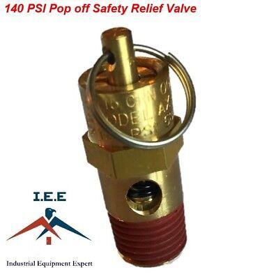 New 14 Npt 140 Psi Air Compressor Safety Relief Pressure Valve Tank Pop Off