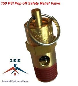 Air Compressor Safety Pop Off Valve 150 PSI ASME CODED