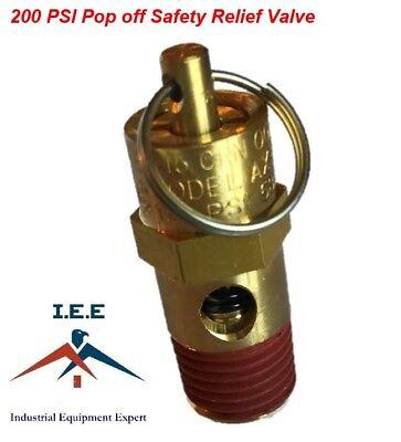 Air Compressor Safety Pop Off Valve 200 Psi Asme Coded