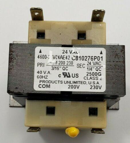 Products Unlimited Transformer 4600-23V04AE42 C810276P01 PRI 200/230  SEC 24VAC