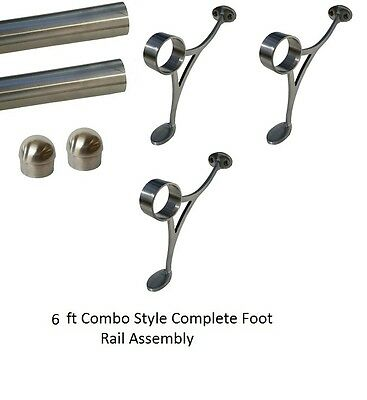 6 ft. NEW STAINLESS FOOT RAIL KIT-BAR RAIL KIT-FOOTREST