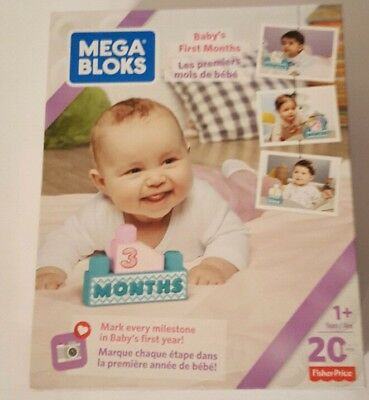 Fisher-Price Mega Bloks Baby's First Months Blocks 20 pcs Great for pictures