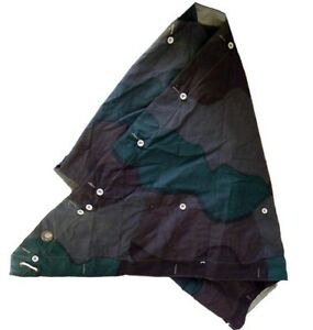Zeltbahn Tent Canvas Basher 2.5 x 2.1m Splinter Camouflage Eyelets VGC NEW VTG
