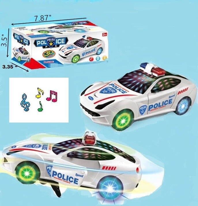Toys for Boys Age 3 4 5 6 7 8 9 Year Old Kids Police Car LED
