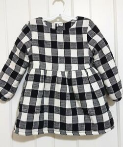 Winter dress lined and filled toddler girl size 18-24