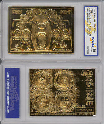 KISS PSYCO-CIRCUS ALBUM *GOLD * PROTOTYPE *Genuine* 22 K GOLD CARD-NEW IN HOLDER