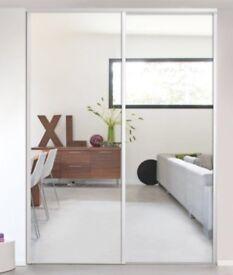 Mirrored sliding wardrobe door £35
