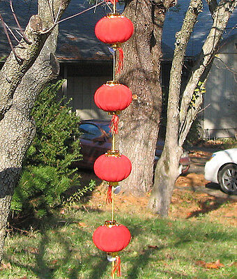 """4X 3.1"""" (8cm) Chinese velvet red lantern for party new year room decor](Decorations For Chinese New Year)"""