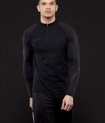 Nike Dri-fit Squad Drill Men's Top - Triple Black- Size Medium