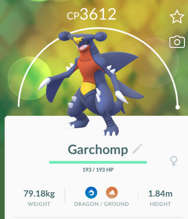 Pokemon Go level 35 Garchomp !!High level ! Save stardust and candy@ level 35
