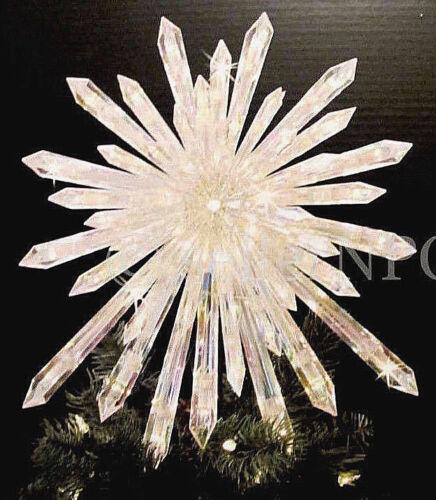 "Huge 14"" Crystal Star Xmas Tree Topper Nativity Twinkling Lights Twinkle Sparkle"