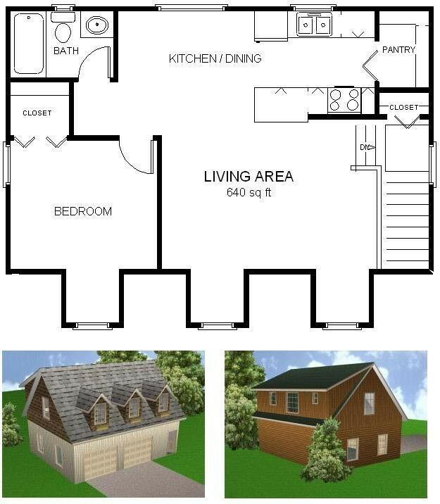 24x32 garage apartment plans package blueprints for Garage apartment blueprints