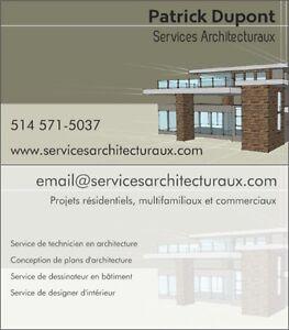 Services de Dessin de Plans de Maison Technicien en Architecture