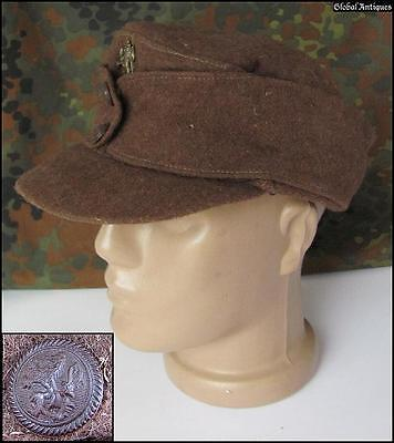 Wwii Original German Ally M43 Panzer Tank Officer Hat V Rare