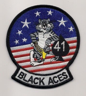 Usn Vf 41 Black Aces Tomcat Patch F 14 Tomcat Fighter Sqn