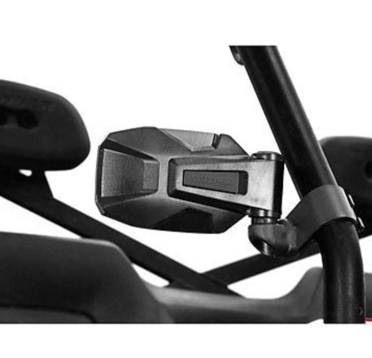 "Pair TERYX 4 Seizmik UTV Strike 1.875-2.0/"" Roll Cage Mounted Side View Mirrors"