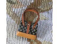 Pat Tyler Dollhouse Miniature Designer Garment Bag Luggage Suitcase Satchel p575