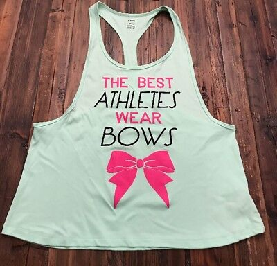 Soffe Large Green women's workout tank 'the best athletes wear