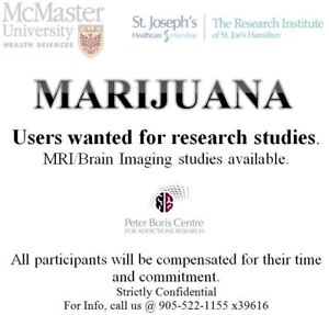 Marijuana users wanted for research study-Compensation provided