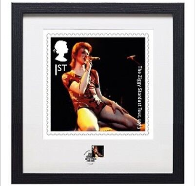 David Bowie Framed Ziggy Stardust Stamp & Print Limited Ed 190/710/816 In Hand