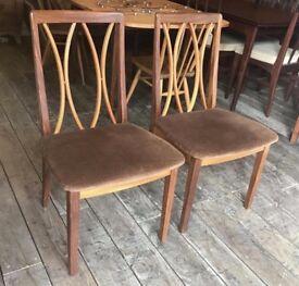 Pair Of Retro G-Plan Dining Chairs