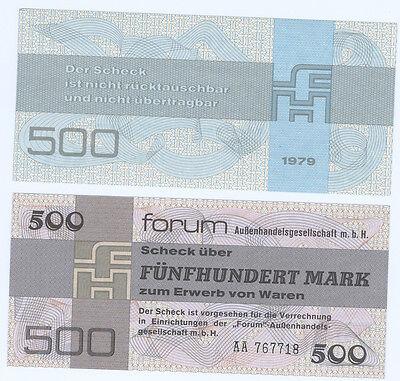 DDR 1979  500 Mark Forumscheck kassenfrisch  Ro.373a