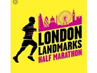 London Landmarks Half Marathon Place 25 March 2018
