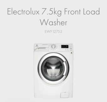 electrolux 7 5kg front load washer. electrolux 7 kg front load washer- excellent condition 5kg washer s