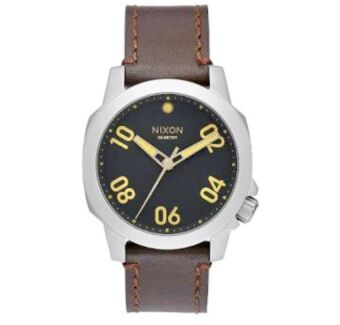 Nixon Men's 40mm Ranger 40 Leather Watch - Black/Brown