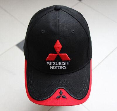 (Mitsubishi Cap Motor Logo Baseball Black Red Hat Car Sport Racing Men Women Polo)