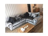 Brand new velvet sofa £500 never been used just be in stood in a house and owner never moved in.