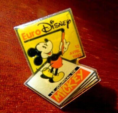 "WALT DISNEY - EURO DISNEY PARIS "" Le Journal de Mickey 12 avril 1992 "" PIN BADGE"