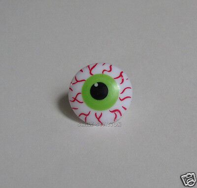 12 Monster Zombie Eye Ball Cup Cake Rings Topper Halloween Party Goody Bag Favor - Halloween Eye Cake Balls