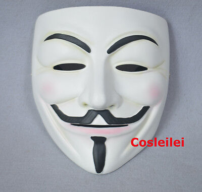 Halloween Guy Fawkes V FOR Vendetta Anonymous High Quality Resin - High Quality Guy Fawkes Mask